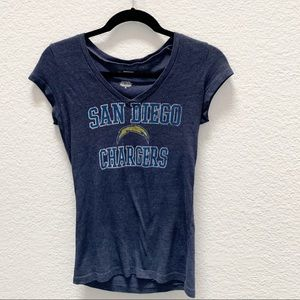 San Diego Chargers V neck Navy Top NFL size M